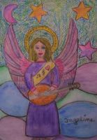 angel  of love of music by ingeline-art