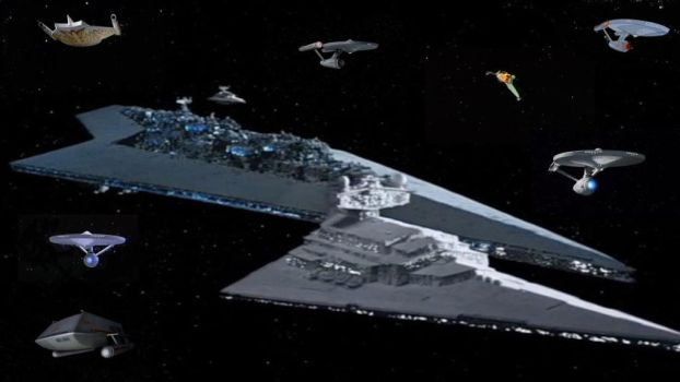 Star Destroyers With Star Trek Ships by RoyPrince