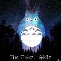 Totoro, the forest spirits by pincello