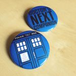 Doctor Who TARDIS and Companion Buttons by Monostache