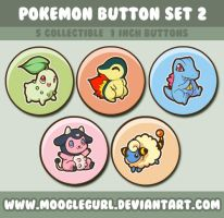 Pokemon Button Set 2 by MoogleGurl
