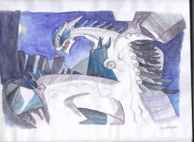 Badass Lugia by shocking-silence