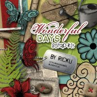 Wonderful Days Scrapkit by Rickulein