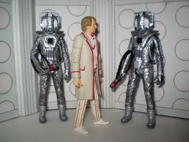 5th Doctor And Cybermen by CyberDrone