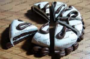 Chocolate Polymer Clay Cake 1 by me0w-kittyy