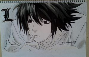 L from Deathnote by hanashenne