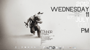 Assassin's Creed III Desktop with Rainmeter by SKILLEDGRAPHICS