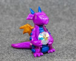 Purple and Blue Gem Dragon by HowManyDragons
