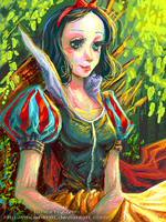 Snow White -- Tegaki by emilynguyenart