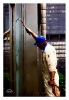 Window Cleaner Digital Painting by photoman356