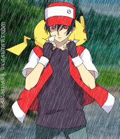 Red and Pikachu by IITheDarkness94II
