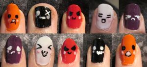 NailArt - Smiley Faces by YaminiZouren