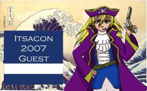 Itsacon Guest Badge by RedTigress