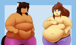 Belly Comparison by CandyKittenXx