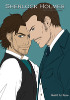 Sherlock and John-flat colors by Darkyoaifox