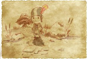Thomas the Leap Year sketching Elf 1 by D-Gee