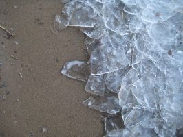 Ice and sand by TextureCat