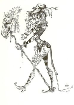 Giddy Up Zombie by ArrogantLampShade