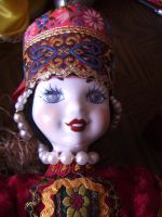russian doll close up by curlytopsan