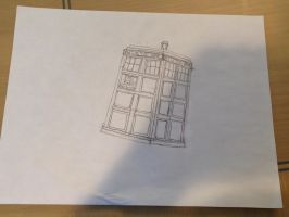 TARDIS Drawing Doctor Who by Flip2247