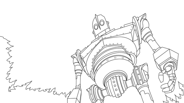 The Iron Giant - Lines by Mr-Frisky