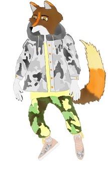 Hypebeast Coyote 1 by FURRY1FASHION1STATE