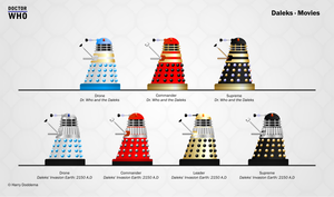 Daleks - The Movies by hdoddema