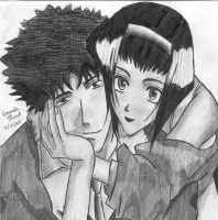 Spike and Faye by physicslover