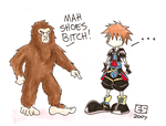 Where Sora Got His Shoes by Booter-Freak