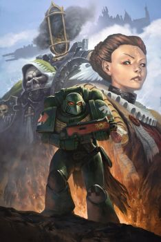 Warhammer 40k Will of Iron #1 NYCC exclusive cover by byakko-kun