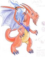 Charlotte the Charizard  (dream version) by MistrissTheHedgehog