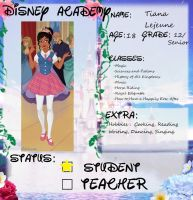 Tiana's Academy Application by msbrit90