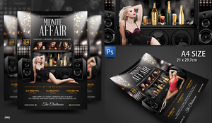 Midnite Affair Nightclub Flyer Poster Template by dennybusyet