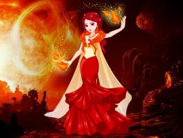 Frozen Elsa Fire Makeover to flame by infinityfractals