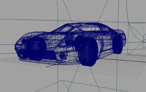Ford GT wireframe by Evil1991