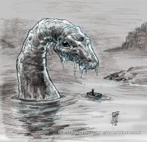 L is for Loch Ness Monster by AI-Joe