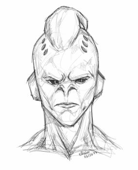 Kid Buu sketch by eliaim