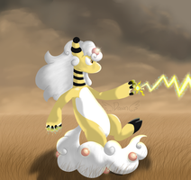 Ampharos Used Thunderbolt by sodapoq