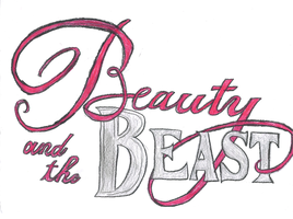 Beauty and the Beast Movie Title Poster by DisneyTolkienFanGirl