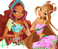 Aisha And Flora by JessInTheBox