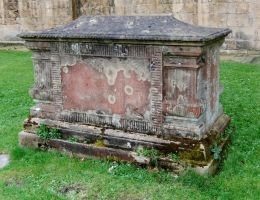 Lichen Encrusted Sarcophagus 1 by fuguestock