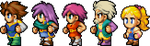 Final Fantasy V - Protagonists PSP Style by Neslug