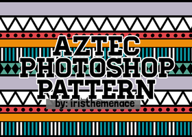 Aztec Photoshop Pattern by iristhemenace