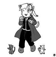 Chibi Kitty Alphonse by tsukiflower
