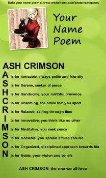 Poem about Ash by AshCrimsonx
