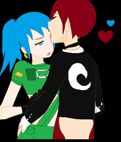 Iori X Loena its more then a kiss by LillyGamer