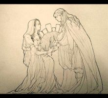 Andreth and Finrod by luthienelf