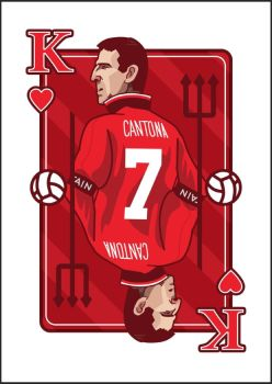 Eric Cantona The King of Hearts by HoneyWii
