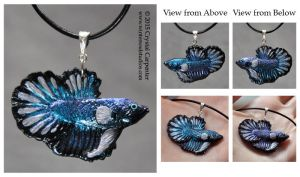 Silver Waters Betta by soulofwinter
