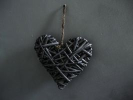 Photography: Straw heart. Hanging by a thread. by siobhanS15